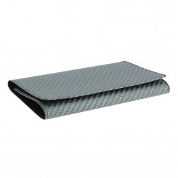 Etui PVC pour carte grise (133x264 mm) look carbon anthracite
