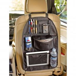 Organisateur / Range-tout pour dossier de siège auto noir 56x42cm