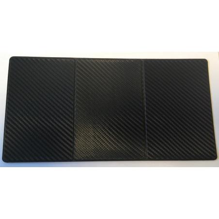 Etui PVC pour carte grise (133x264 mm) look carbon noir