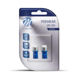 2 Ampoules LED T10 W5W 12V 0.5W bleu