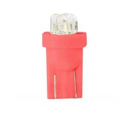 10 ampoules rouge T10 W5W 4xLED 3mm 12V 0.96W