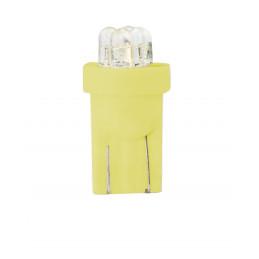 10 ampoules jaune T10 W5W 4xLED 3mm 12V 0.96W