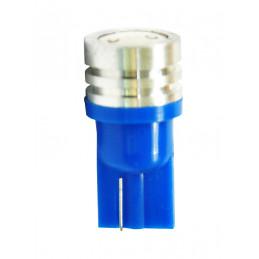 10 ampoules LED bleu T10 W5W 12V 0.5W