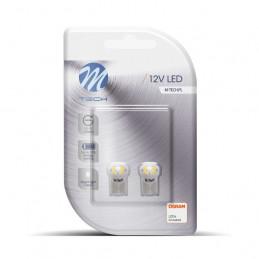 2 ampoules LED blanc T10 W5W 4xSMD3528 12V 0.32W
