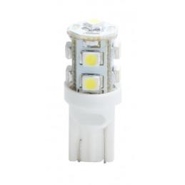 10 ampoules LED blanc T10 W5W 9xSMD3528 12V 0.72W