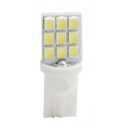 10 ampoules LED T10 W5W 9 leds SMD3528 12V 0,72W blanc