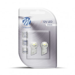 2 ampoules LED T10 W5W LED SMD5050 12V 0,24W blanc