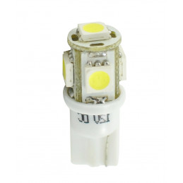 10 ampoules LED T10 W5W LED 5xSMD5050 12V 1,2W blanc