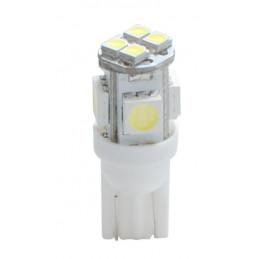 10 ampoules LED T10 W5W LED 4xSMD5050 + 4 SMD3528 12V 2,8W blanc