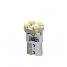 10 ampoules LED T10 W5W LED 4xSMD3528 12V 0,32W blanc