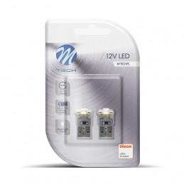 2 ampoules LED T10 W5W LED 4xSMD3528 12V 0,32W blanc