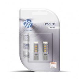 2 ampoules LED blanc T10 W5W 16xSMD3528 12V 1.28W