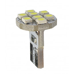 10 ampoules LED blanc T10 W5W 8xSMD3528 12V 0.64W
