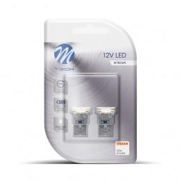 2 ampoules LED blanc T10 W5W 6xSMD3528 12V 0.48W