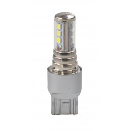1 ampoules LED 9xLG3030 T20 PGJ19-2 12V 6W blanc