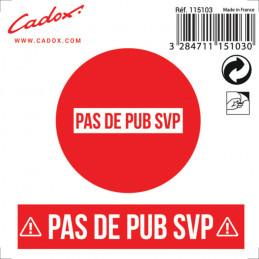 2 stickers Pas de Pub