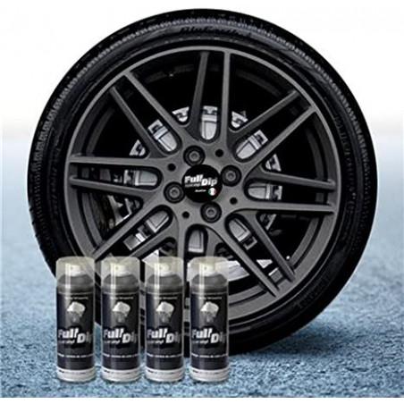 Lot de 4 sprays Full Dip 400ml - Finition anthracite métallisé