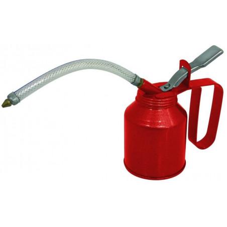 Burette 180ml rouge métal bec flexible
