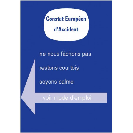 Lot de 3 constats amiable accident Agréés - Toutes assurances France et Europe
