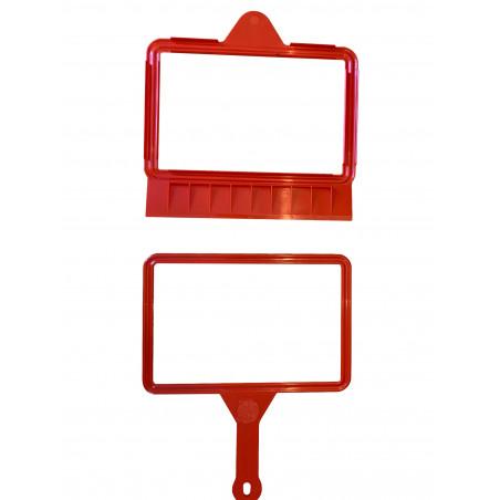 Clip pelle ragone rouge