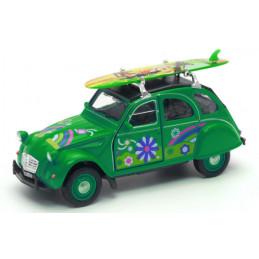 Voiture miniature 2CV surf...