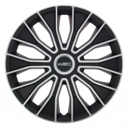 WRC lot de 4 enjoliveurs bicolores pour tout type de roue 14 pouces N°5