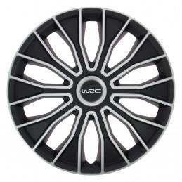 WRC lot de 4 enjoliveurs bicolores pour tout type de roue 16 pouces N°5