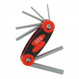AEG  set de 7 clés 6 pans 2,5-3-4-5-6-8-10mm