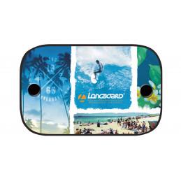 LONGBOARD Beach 2 écrans pare soleil latéraux monospace 67cm x 43cm.
