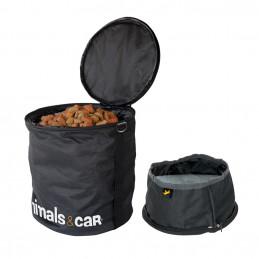 ANIMALS&CAR Kit Pliable Sac à Croquettes 5Kg + Écuelle 170009