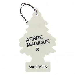 ARBRE MAGIQUE carte parfumée à suspendre au rétroviseur Artic White