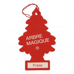 ARBRE MAGIQUE carte parfumée à suspendre au rétroviseur parfum fraise