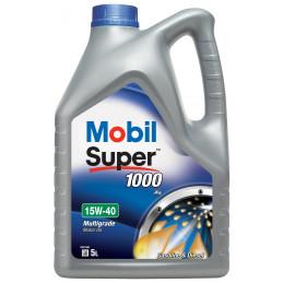 MOBIL Super 1000 X1 15W-40 bidon 5L huile moteur essence minérale