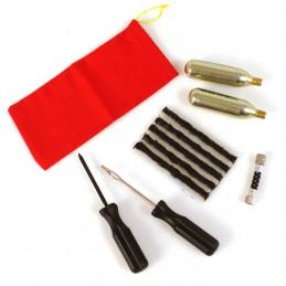 EZ-SEAL Kit de réparation pneus tubeless 5 mèches, outils, cartouches et raccord